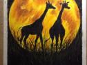 """""""AFRICA"""",desen in pasteluri uleioase,pe hartie cartonata A4"""
