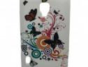 Husa Telefon Silicon LG Optimus L7 II butterfly white