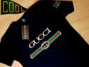 Tricouri Gucci logo brodat, model unisex,S M L XL XXL