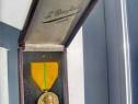 C68-Medalie Regele ALBERTUS REX 1909-1934 VD bronz patinat.