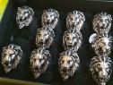 10 bucati inele skull cap de leu
