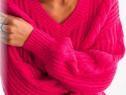Pulover C&A roz ciclam - NOU - cu Etichetă - damă L