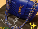 Geanta YSL super model,logo metalic auriu, saculet