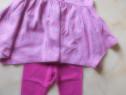 Set rochita cu colanti pentru fetite de 2 - 3 ani