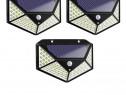 Set 3 lampi solare cu senzor de miscare