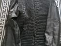 Jachetă Barbătească Slim Fit Biker Negru XXXL,