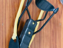 IPrastie rapide din metal cu maner si corzi elastice