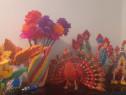 Origami flori,pauni,vaza