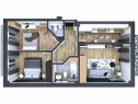Apartament 3 camere decomandat cu 2 bai bloc nou Kaufland-Pa