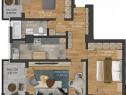 Apartament 3 camere,decomandat,bloc nou,Pacurari.