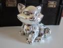 Pisica de colectie,argintata-Moda Argenti,made Italy-cadou
