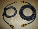 Cablu hdmi - hdmi full hd 2k 4k magnet antiparaziti 1.5m /5m