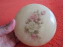 Cutie rotunda, rara, Alabaster,de colectie-made Italy-cadou