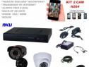Sistem video AKU 2 camere interior/exterior 1200tvl/dvr 4ch