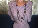 Bluza lila superba cu margele