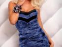 Rochie cameleon pe albastru revelion + cadou