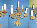 6268-Lampadar electric 5 brate Franta anii 1900 bronz aurit.