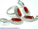 Set bijuterii argint rodiat Model ST146231