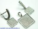 Set bijuterii argint rodiat Model ST390569