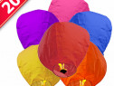 Set 200 Lampioane zburatoare colorate sky lanterns
