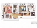 Apartament 3 camere, demisol, vata bazaltica, Central