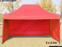Pavilion foisor cort pliabil armonica 3x4.5 + pereti nou