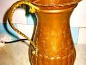 7935-Cana bronz-cupru antica maner alama gravata si manual.