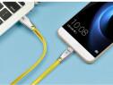 Cablu hoco usb + tip c capete din zinc cablu impletit