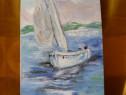 Marina 2-pictura ulei pe placaj