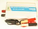 Invertor auto 12V 1000W clesti baterie cablu pentru bricheta