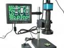 Microscop Lucru+monitor, 14MP HDMI HD USB, Suport si lentile