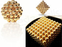 Puzzle Tesla Balls galactic auriu,joc magnetic bile,neocube