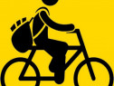 Curier pe bicicleta