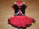 Costum carnaval serbare scufita rosie regina inimilor adulti