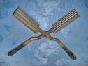 Ondulator par rustic vechi metal cu maner lemn st. buna.