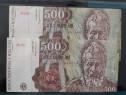 2 Bancnote 500 lei puse in circulatie in aprilie 1991