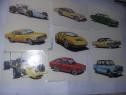 Cartonase cu masini vechi de colectie tip surprize guma mest