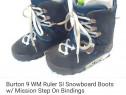 Clăpari, boots snowboarding Burton Ruler SI, mărimea 38.