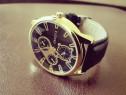 Ceas de mână bărbătesc Geneva auriu cadran negru