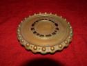 Suport pentru vase fierbinti cu picior din bronz masiv 20 cm