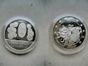 A197-UNC-Medalia 1 Euro aniversara cu monedele Polonia.