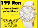 Ceas Aviator cristale swarowski ceas de mana dama mare xxl