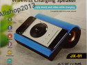 Incarcator Wireless pentru telefon cu boxa incorporata ,USB,