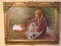 Pictura interbelica in ulei semnat Apostol Manciulescu
