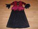 Costum carnaval serbare vrajitoare rochie medievala 9-10 ani