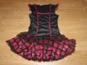 Costum carnaval serbare rochie gotica vrajitoare adulti