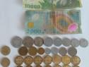 Colecție numismatică: 2 bancnote+37monede