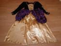 Costum carnaval serbare rochie medievala regina 10-11-12 ani