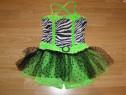 Costum carnaval serbare rochie dans pentru copii de 6-7 ani