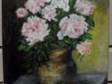 Vaza cu trandafiri 2-pictura ulei pe panza